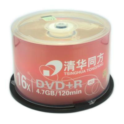 清华同方 DVD光盘 刻录碟片 DVD+R 4.7G 办公耗材 50片/筒 DVD+R 4.7G